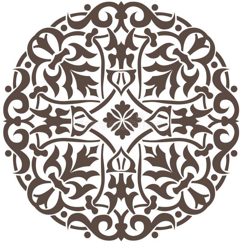 круговая конструкция флористическая стоковая фотография rf
