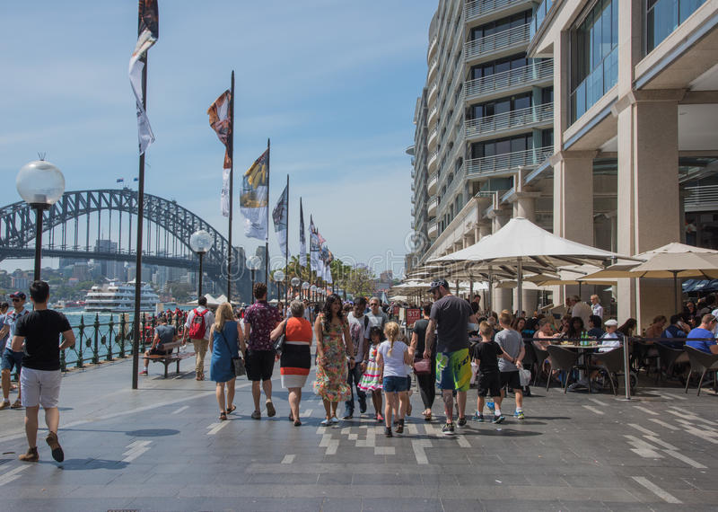 Круговая набережная: Сидней, Австралия стоковое фото