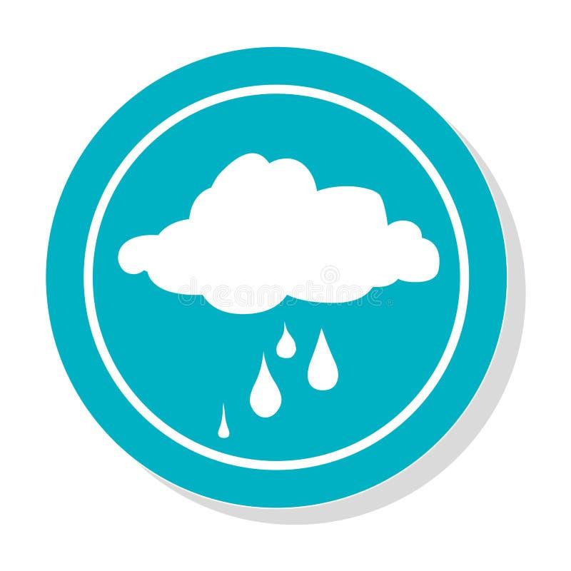 Круговая рамка с значком облака силуэта ненастным бесплатная иллюстрация