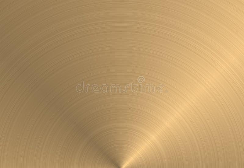 круговая текстура металла золота иллюстрация штока