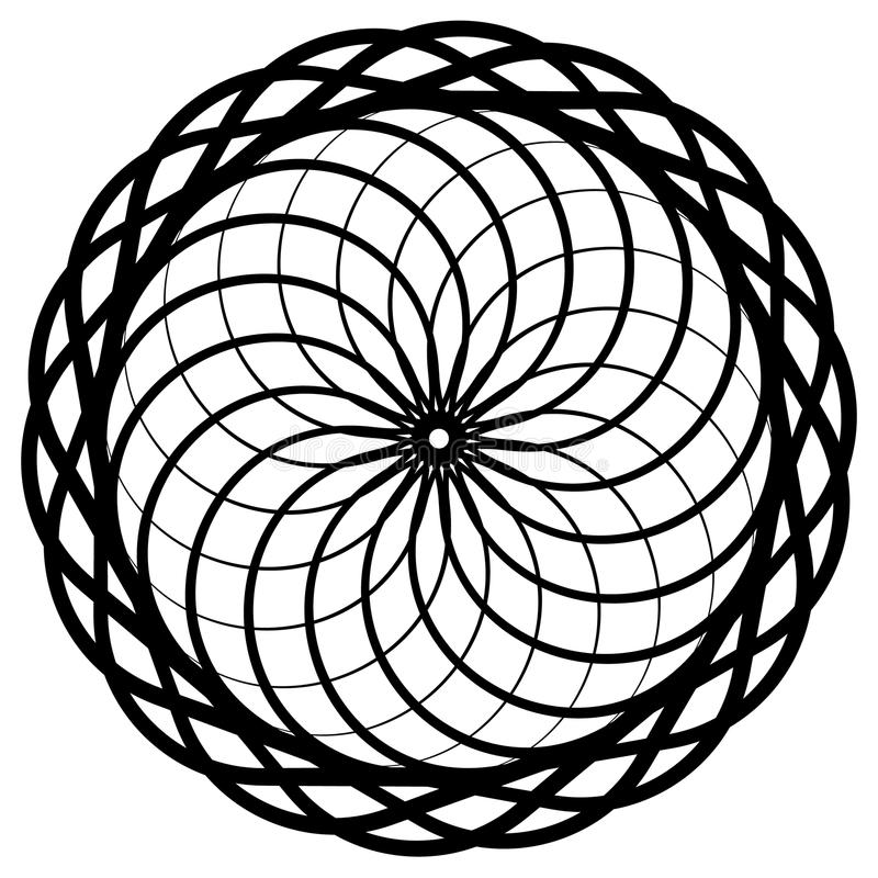 Download Круговой геометрический элемент, абстрактный мотив, мандала изолированная дальше Иллюстрация вектора - иллюстрации насчитывающей украшение, шнурок: 81805140