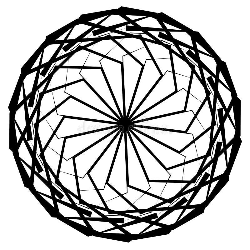 Download Круговой геометрический элемент, абстрактный мотив, мандала изолированная дальше Иллюстрация вектора - иллюстрации насчитывающей иллюстрация, украшение: 81805143