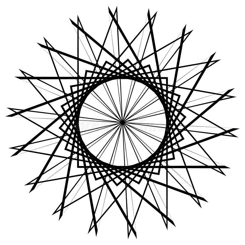 Download Круговой геометрический элемент, абстрактный мотив, мандала изолированная дальше Иллюстрация вектора - иллюстрации насчитывающей мандала, творческо: 81805150