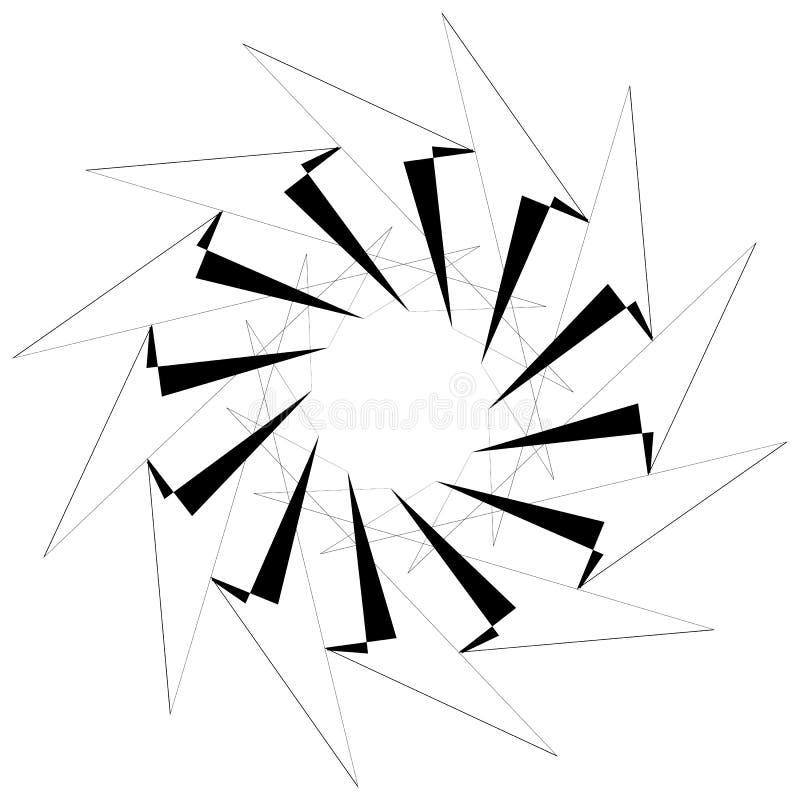 Download Круговой геометрический элемент Вращая формы, Illu форм абстрактное Иллюстрация вектора - иллюстрации насчитывающей monochrome, элемент: 81807415