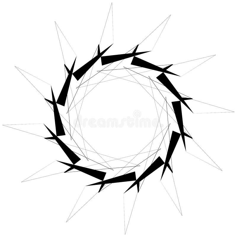 Download Круговой геометрический элемент Вращая формы, Illu форм абстрактное Иллюстрация вектора - иллюстрации насчитывающей творческо, кривый: 81807632