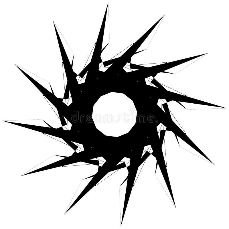 Download Круговой геометрический элемент Вращая формы, Illu форм абстрактное Иллюстрация вектора - иллюстрации насчитывающей творческо, центробежка: 81807725