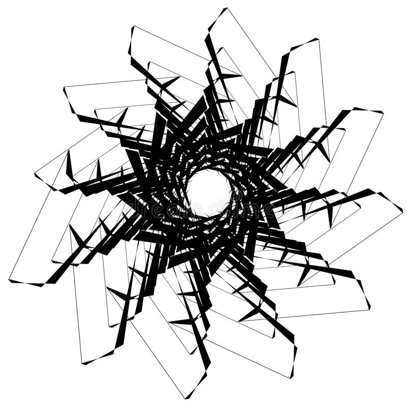 Download Круговой геометрический элемент Вращая формы, Illu форм абстрактное Иллюстрация вектора - иллюстрации насчитывающей циклическо, гирация: 81808893