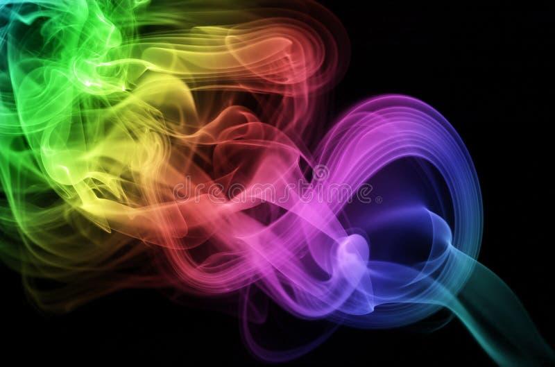 круговой дым стоковая фотография rf