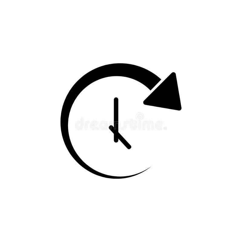 круговой значок стрелки и часов Элемент значка сети для передвижных apps концепции и сети Изолированный круговой значок стрелки и бесплатная иллюстрация