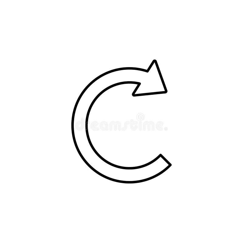 Круговой значок стрелки Элемент простого значка для вебсайтов, веб-дизайна, передвижного app, графиков информации Тонкая линия зн иллюстрация вектора