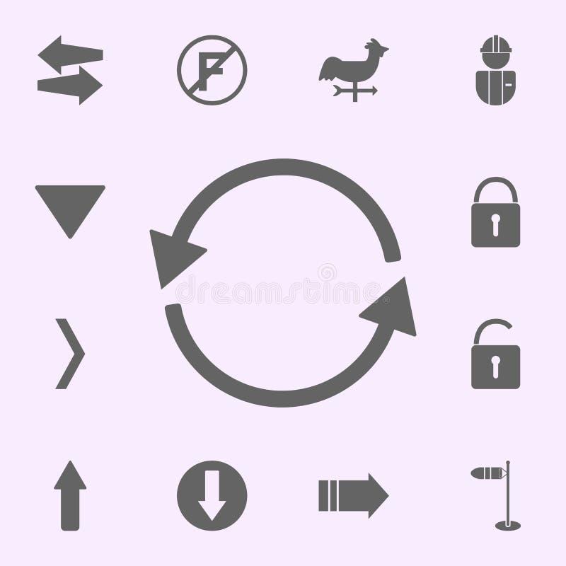 круговой значок стрелок набор значков сети всеобщий для сети и черни иллюстрация штока