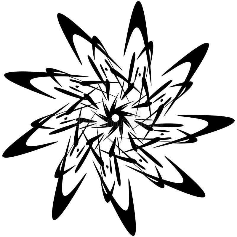Download Круговой дизайн с эффектом искажения Абстрактное Monochrome Elem Иллюстрация вектора - иллюстрации насчитывающей пункт, черный: 81810528