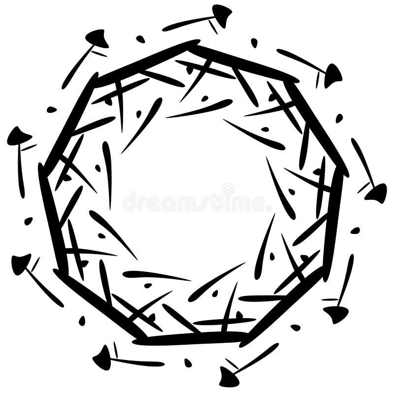 Download Круговой дизайн с эффектом искажения Абстрактное Monochrome Elem Иллюстрация вектора - иллюстрации насчитывающей круги, передернуто: 81810534