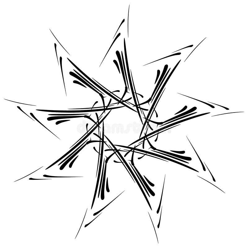 Download Круговой дизайн с эффектом искажения Абстрактное Monochrome Elem Иллюстрация вектора - иллюстрации насчитывающей конспектов, свободно: 81810709