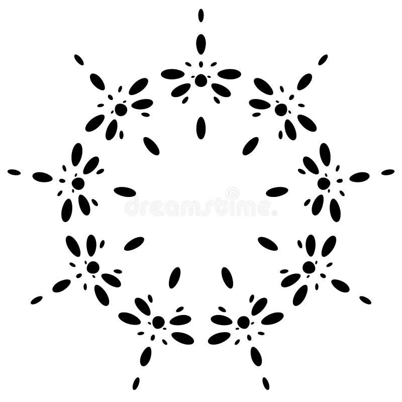 Download Круговой дизайн с эффектом искажения Абстрактное Monochrome Elem Иллюстрация вектора - иллюстрации насчитывающей деформация, элемент: 81810733