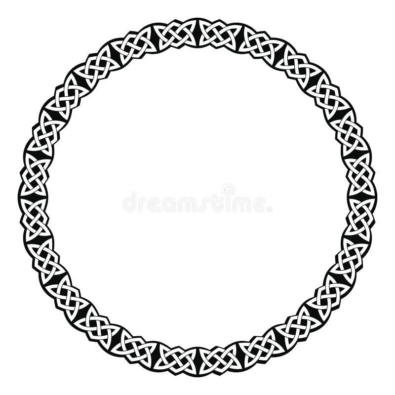 Круговой кельтский орнамент иллюстрация штока