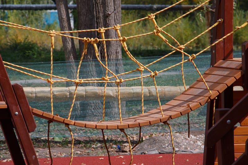 Круговой мост на тренажере Playground стоковое фото rf