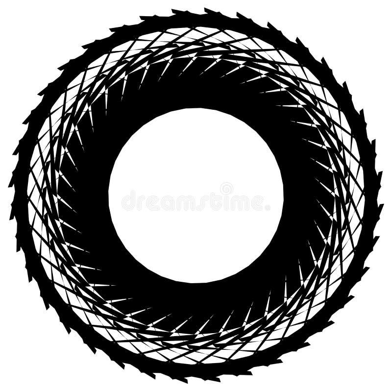 Download Круговой радиальный геометрический элемент изолированный на белой предпосылке Иллюстрация вектора - иллюстрации насчитывающей backhoe, кругло: 81807807