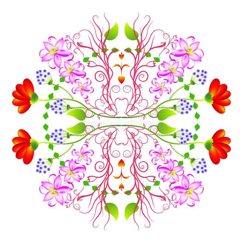 Круговой флористический орнамент стоковые изображения
