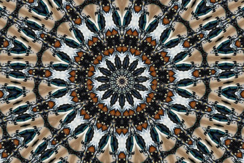 круговой цветастый kaleidoscope стоковые изображения rf