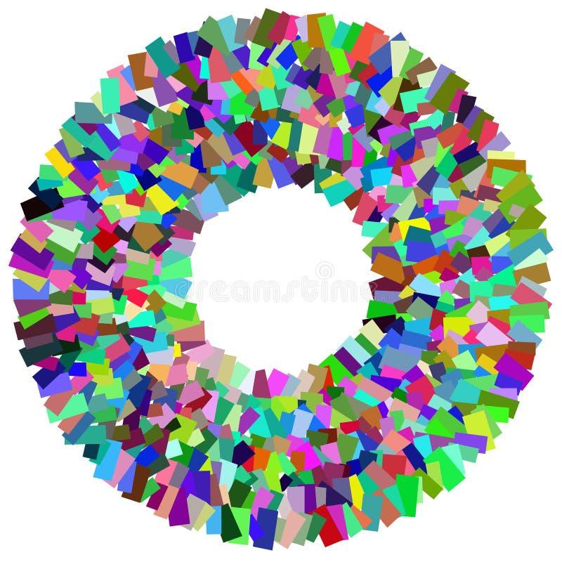 Download Круговой элемент мозаики Multicolor круг с разбросанный, Rando Иллюстрация вектора - иллюстрации насчитывающей случайно, прямоугольно: 81813854