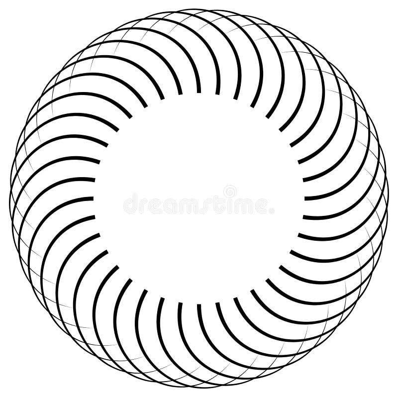 Download Круговой элемент сделанный радиальных линий абстрактная геометрическая форма Иллюстрация вектора - иллюстрации насчитывающей круг, влияние: 81813402