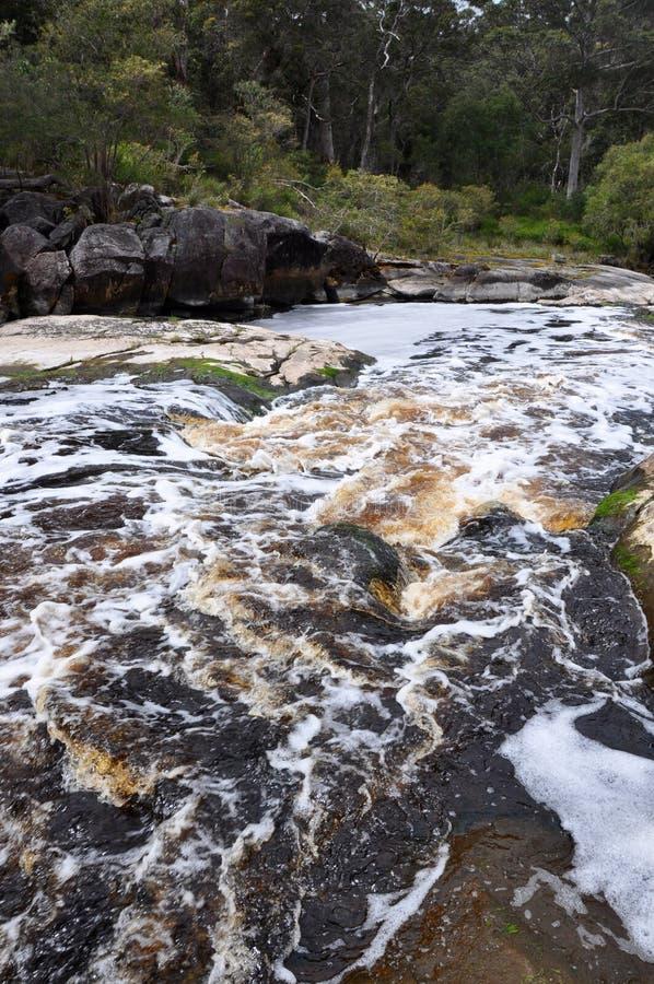 Круговые бассейны реки Frankland в западной Австралии стоковые изображения