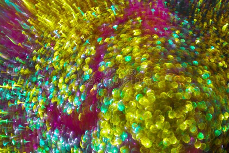 круговые отражения bokeh светов рождества пестротканого иллюстрация штока