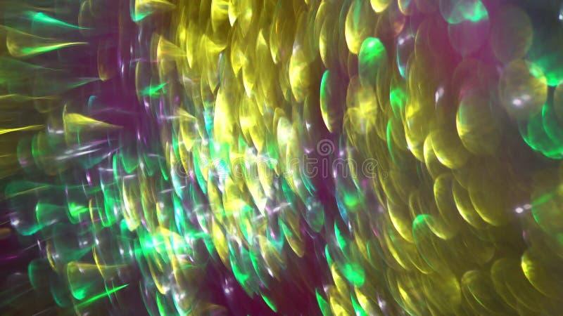 круговые отражения defocused взгляда красочных светов бесплатная иллюстрация