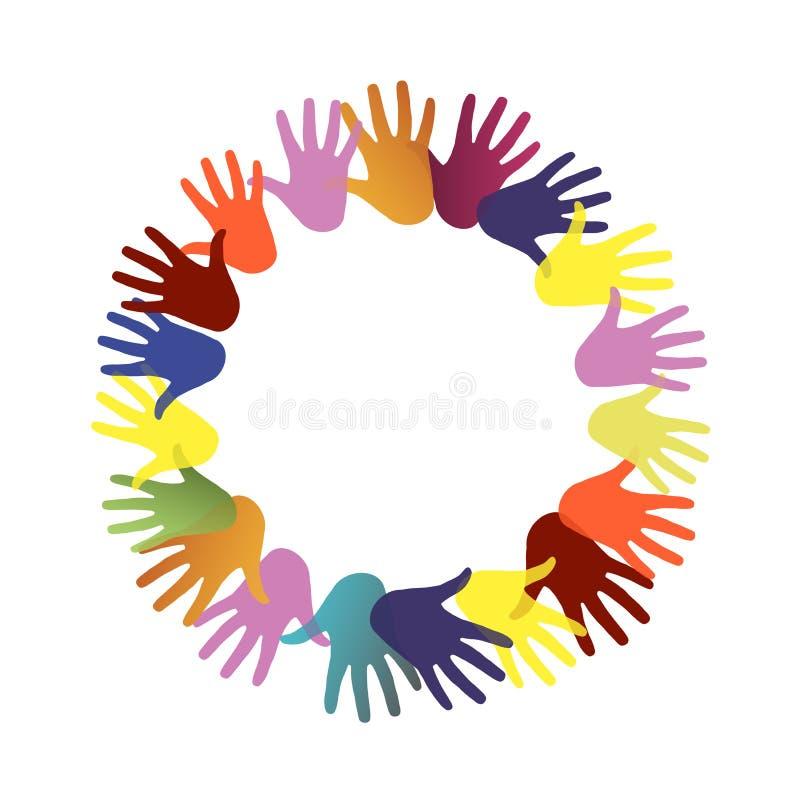 Круговые руки иллюстрация штока
