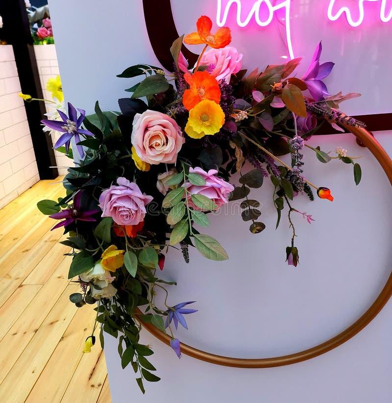 Круговые цветки стоковое фото rf