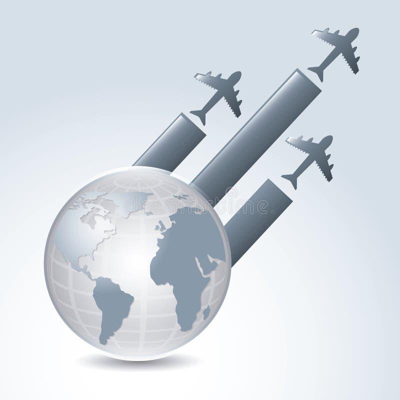 Кругосветные беспосадочные полеты иллюстрация штока