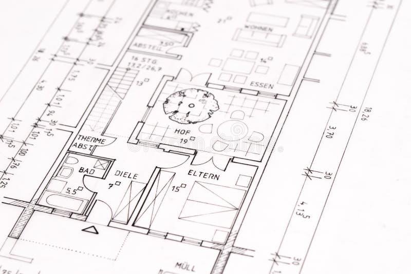 круг архитектурноакустической части чертежа здания rotunda иллюстрация штока