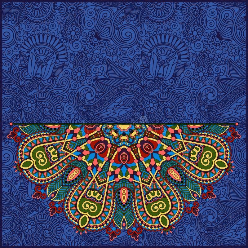 Круглая картина в украинском восточном этническом стиле иллюстрация штока