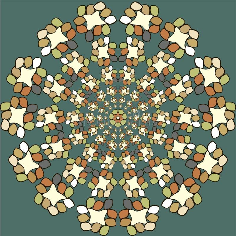 Круглая картина орнамента Винтажные элементы бесплатная иллюстрация