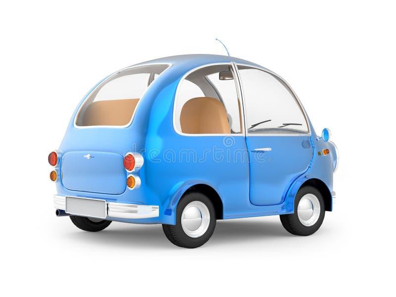 Круглая малая задняя часть сини автомобиля бесплатная иллюстрация