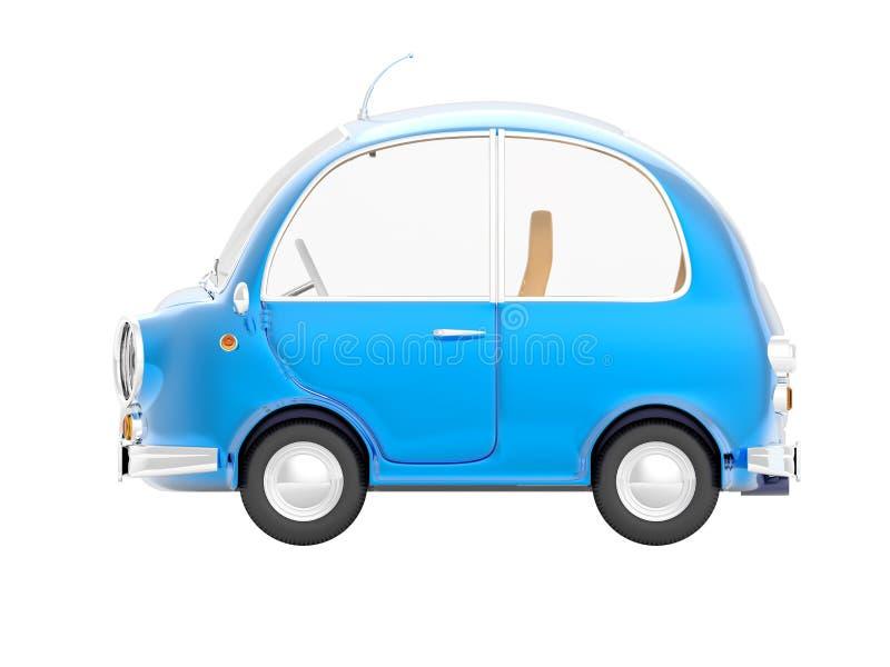 Круглая малая сторона сини автомобиля иллюстрация штока