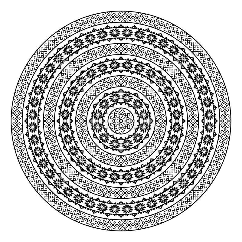Круглая орнаментальная форма вектора изолированная на белизне иллюстрация штока