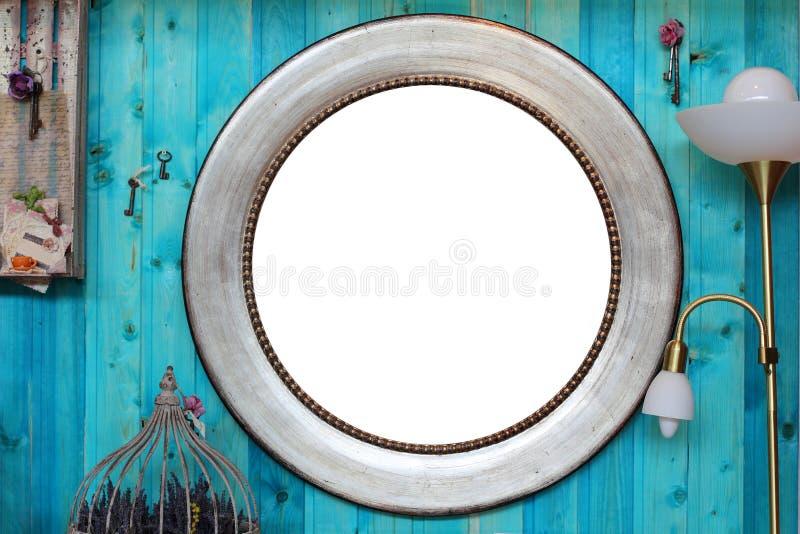 Круглая рамка в интерьере стоковое изображение