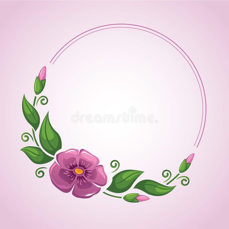 Рамка цветка в векторе иллюстрация штока