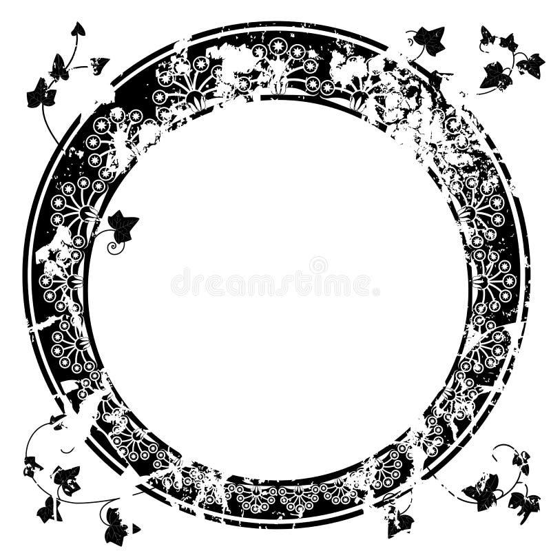Круглая рамка с плющом иллюстрация штока