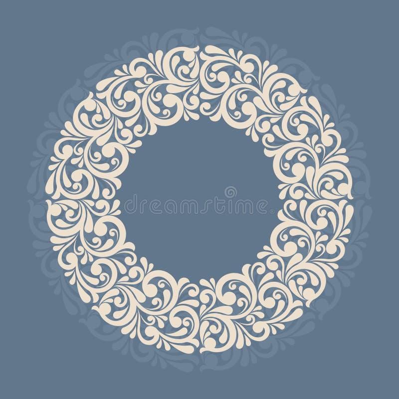 Круглая флористическая рамка. иллюстрация штока