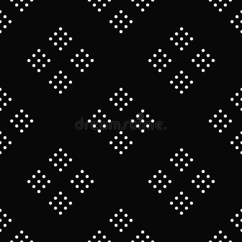 Круг безшовной картины черно-белый абстрактный иллюстрация вектора