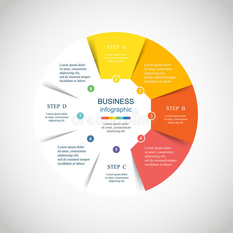 Круг вектора infographic иллюстрация штока