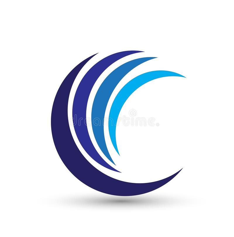 Круг, вода, логотип, ветер, сфера, завод, листья, крылья, пламя, солнце, конспект, безграничность, набор круглого дизайна вектора бесплатная иллюстрация