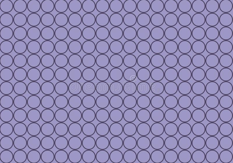 Круг геометрический на пурпурной предпосылке E иллюстрация штока