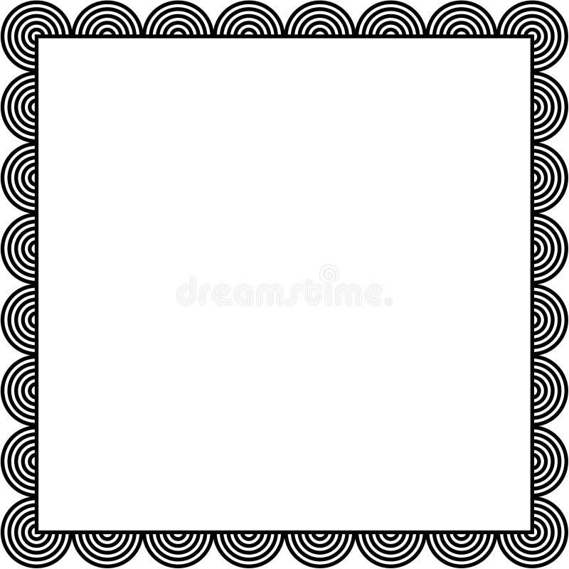 круг граници иллюстрация вектора