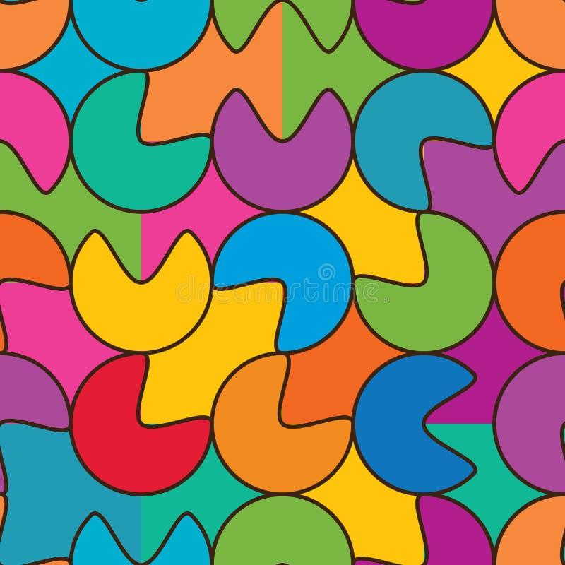 Круг ест абстрактную безшовную картину иллюстрация вектора