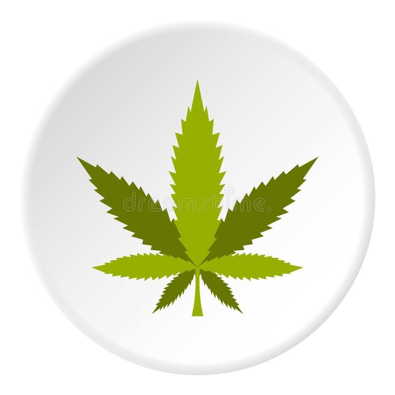 Круг значка лист марихуаны бесплатная иллюстрация