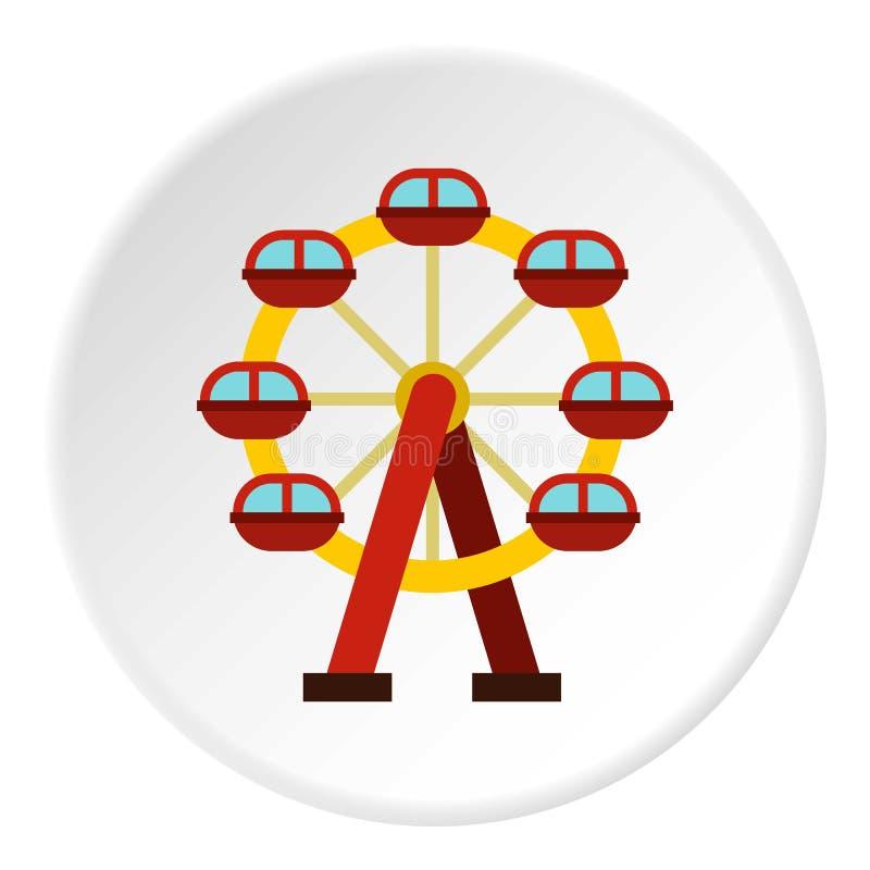Круг значка колеса Ferris иллюстрация вектора